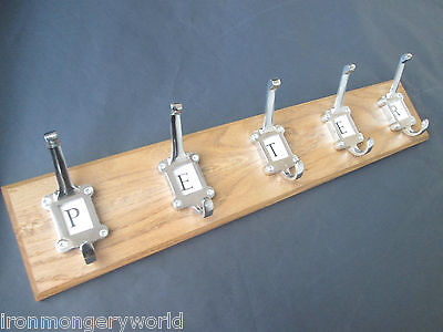 9 sizes SOLID OAK HANDMADE WOODEN COAT RACK HANGER HANGING PEGS RAIL 95