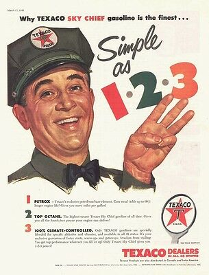 1956 AD Texaco dealers simple as 1-2-3- petrox-top octane-climate controlled