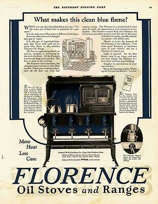 1923 AD Florence oil stoves, ranges clean blue flame  a