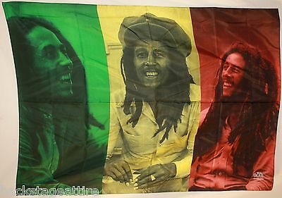 BOB MARLEY Rasta Collage Cloth Fabric Wall Banner Poster Flag Tapestry-New!!!