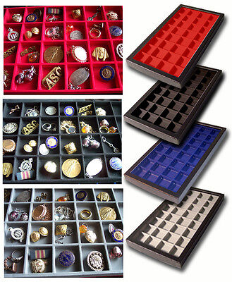 1 Glass Display Case Black 32 Division Sport Badge Police jewellery Coins Golly