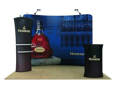 NEW 10ft Pop Up Fabric Tension Display Wall for Trade show booth Graphic include