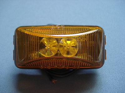 """Amber LED Trailer Truck Clearance Side Marker Submersible Light 2.5"""" x 1.25"""""""