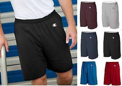 "8187 Champion Active Wear Men's Cotton Gym Shorts Athletic 6"" Inseam No pockets"