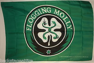 FLOGGING MOLLY Shamrock 29X43 Green Wall Cloth Fabric Poster Flag Tapestry-New!