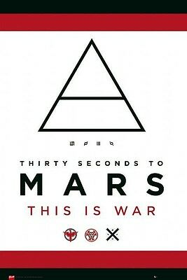 "30 THIRTY SECONDS TO MARS This is War Leto Cloth Fabric Poster 29""x43"" Flag-New!"