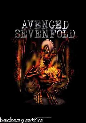 AVENGED SEVENFOLD A7X Firebat Fire Bat 29X43 Cloth Fabric Poster Flag New!!!