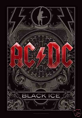 "AC/DC ACDC BLACK ICE Angus Young 29""X43"" (75cmX110cm) Cloth Fabric Poster Flag"
