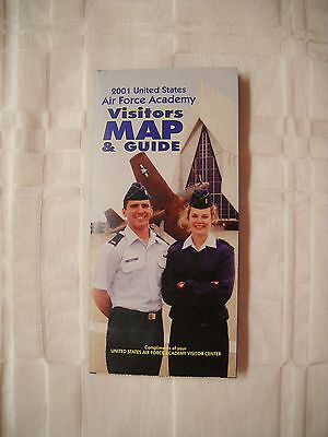 United States Air Force Academy visitors map & guide USAF