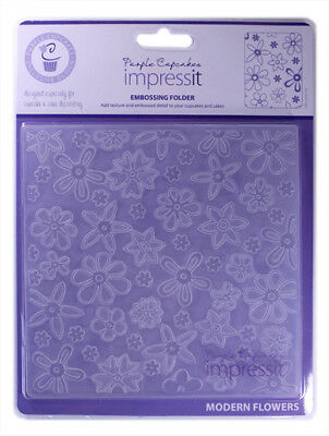 Embossing Folders Impressit Mat Stamp Purple Cupcakes - FREE DELIVERY