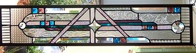 Stained Glass Window Hanging 6 7/8  X 31 5/8""