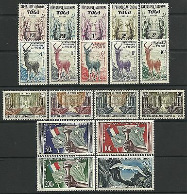 TOGO. 1957. Pictorial Definitive Set. SG: 196/213. Mint Lightly Hinged.