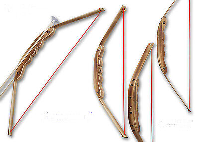Wooden Bow with Arrows and Holder Children Kids Archery For Hunting Toy Game