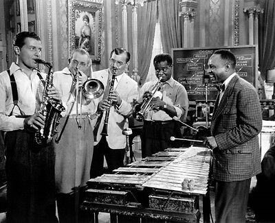 Louis Armstrong Tommy Dorsey Benny Goodman L Hampton 8X10 Glossy Photo Picture