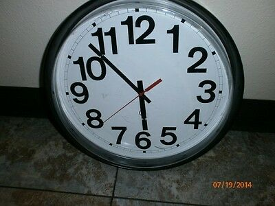 QUARTZ ANALOG  COMMERCIAL WALL CLOCK SCHOOL BUSINESS by PETER PEPPER PRODUCTS