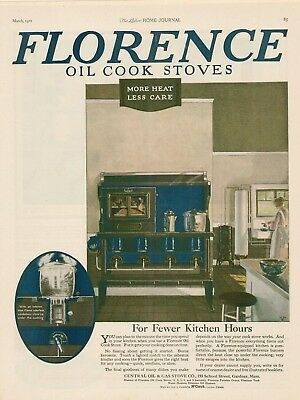 1921 Florence oil cook stove more heat, less care AD