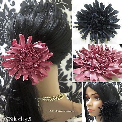 Large Chrysanthemum Hair Flower Ponio Head Elastic Band Fascinator Big Bobble cm