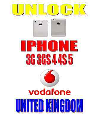 UNLOCK IPHONE 5 4 3G 3GS 4S VODAFONE UK BLOCKED BARRED BLACKLISTED PREMIUM 100%