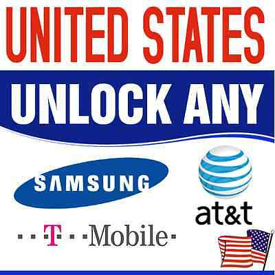 AT&T and T-Mobile USA SAMSUNG UNLOCKING CODE Galaxy S5 S4 S3 S2 i727 NOTE 3 III
