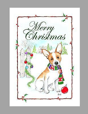 Rat Terrier Dog Christmas Cards, Box of 16 Cards & 16 Envelopes