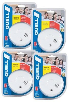 Quell Photoelectric Smoke Alarm Pro Detectors DIY Kit of four & 10Yr Warranty