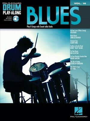 Blues Drum Play-Along Book and CD NEW 000700272