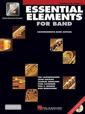 Essential Elements 2000 Book 2 Conductor Book and CD NEW 000862587