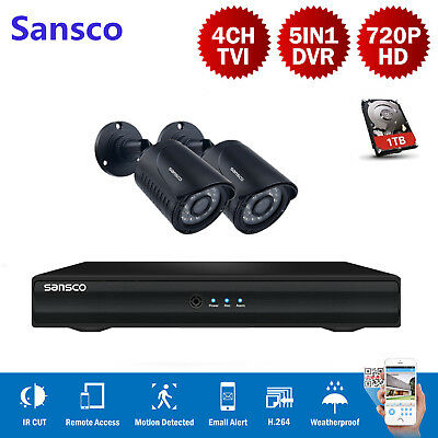 ZMODO 4CH CCTV NVR Network Record PoE 720P HD Outdoor Security Camera System 1TB