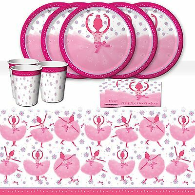 TuTu Much Fun Ballerina Ballet Birthday Party Tableware Pack Kit For 16