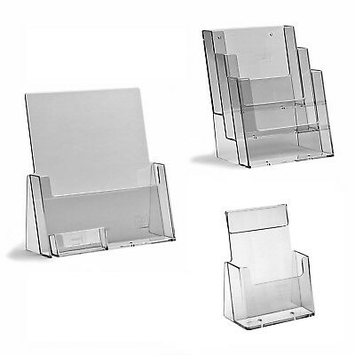 Leaflet Holders Counter Brochure Menu Display Stands & Business Card Dispensers