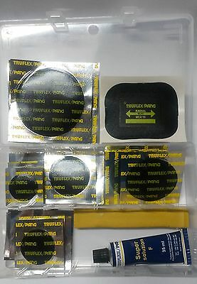 Pang Tyre + Tube Puncture Repair Kit Assorted Set (Patches + Glue) 39Pc Set