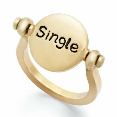 American Rag Ring, Gold-Tone Single and Ready to Mingle Swivel Disc Ring, Size 8