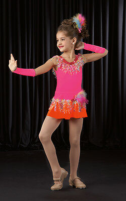 CONFETTI Leotard & Fringed Tap Skirt Pageant Dance Costume Child & Adult Sizes