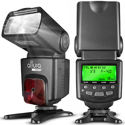 Altura Speedlite TTL Flash w/ LCD Screen for Canon EOS Rebel T5i T4i T3i T3 SL1