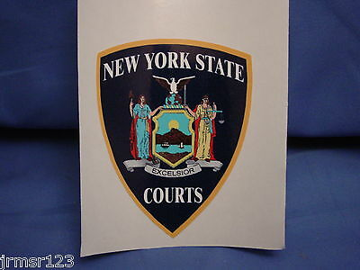 NEW YORK COURTS Decal sticker INSIDE STATIC CLING  PBA FOP  NEW