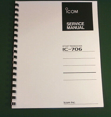 Icom IC-706 Service Manual - comb bound and protective covers!