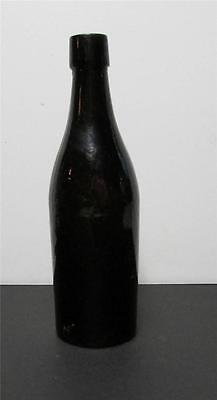 "1800s Antique 9"" Black Glass Ale Bottle Free Blown Old Tavern - Great Bottle!"