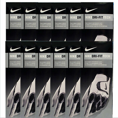 New Nike 2014 Dri-Fit Tech Men's Golf Gloves - *12-PACK* - Pick Size & Hand