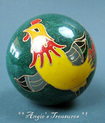 "2"" Rooster Porcelain Jangle Ball - Shake it and it Jangles"