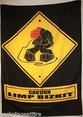 DISCONTINUED LIMP BIZKIT FRED DURST Caution Cloth Poster Flag Tapestry Rare New