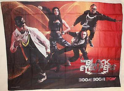 BLACK EYED PEAS Boom Boom Pow Cloth Poster Flag Fabric Textile Wall Tapestry-New