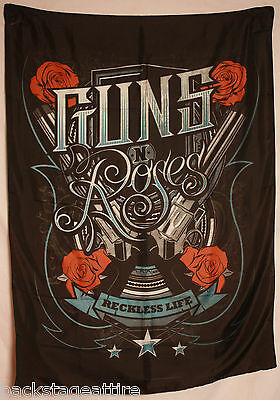 GUNS N and ROSES GNR Reckless Life Textile Fabric Cloth Poster Flag Banner New!!