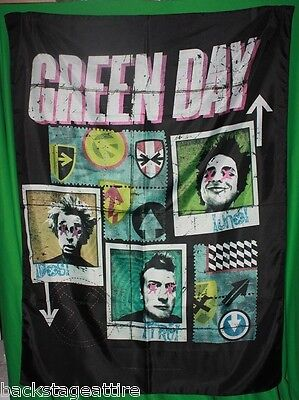 Green Day Uno Dos Tre Billie Joe Flag Cloth Fabric Poster Flag Wall Banner-New!!