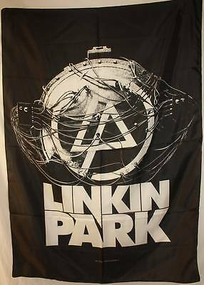LINKIN PARK Atomic Age Cloth Fabric Textile Poster Flag Tapestry Wall Banner-New