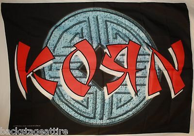 Discontinued Korn Jonathan Davis Ball Logo Cloth Fabric Poster Flag Tapestry-New