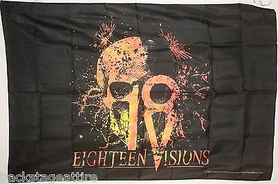 18 Eighteen Visions Root Skull Cloth Poster Flag Fabric Tapestry Banner-New!!