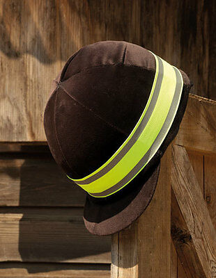Harlequin Reflective Fluorescent Horse Riding Rider Hat Band Hi Vis Yellow