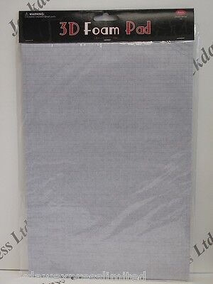 2,520 3D Foam Pads Double Sided Self Adhesive Black 5x5x1mm (226315)