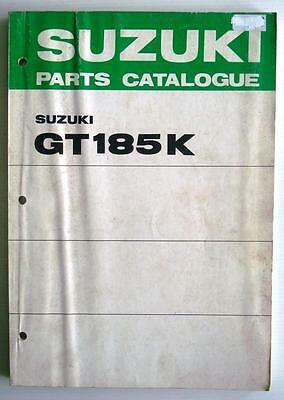 SUZUKI GT185K Illustrated Motorcycle Parts Catalogue / List  1973 #99000-91770