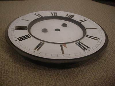 "Old 6"" Porcelain Wall Clock Dial & Pan for Restoration Work E076a"